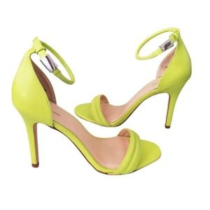 Prabal Gurung for Target Yellow Ankle Strap Heels